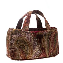 Etro Multicolor Paisley Fabric Tote 167346