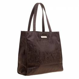 Etro Brown Paisley Fabric Tote 167361