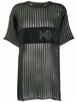 Mr & Mrs Italy удлиненная футболка в рубчик TS094E