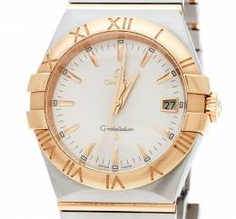 Omega Silver Stainless Steel and 18K Yellow Gold Constellation 396.2011 Women's Wristwatch 34 mm 178636