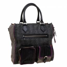 Etro Multicolor Fabric and Leather Tote 178953
