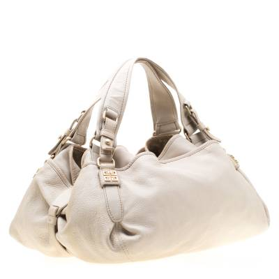 Givenchy Beige Leather Bucket Bag 187265 - 2