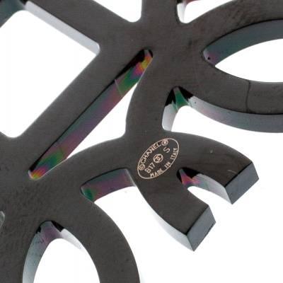 Chanel CC Crystal Embellished Black Ribbon Necklace 185251 - 5