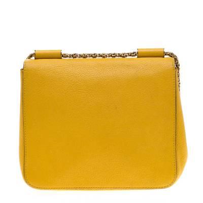 Chloe Mustard Leather Small Elsie Shoulder Bag 187023 - 3