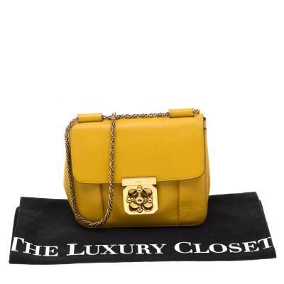 Chloe Mustard Leather Small Elsie Shoulder Bag 187023 - 9