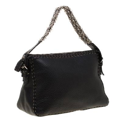 Fendi Black Leather Shoulder Bag 187330 - 2
