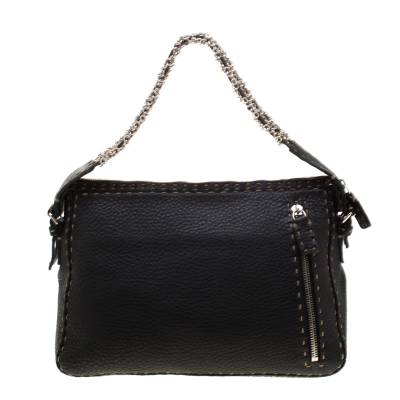 Fendi Black Leather Shoulder Bag 187330 - 3