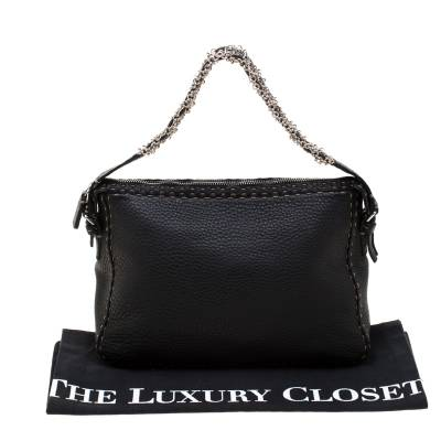 Fendi Black Leather Shoulder Bag 187330 - 9