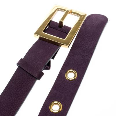Gucci Purple Nubuck Leather Belt 85CM 186865 - 4