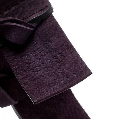 Gucci Purple Nubuck Leather Belt 85CM 186865 - 5