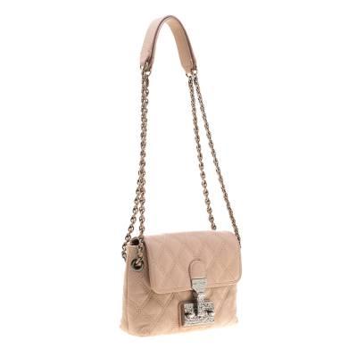 Marc Jacobs Nude Leather Baroque Shoulder Bag 187328 - 2