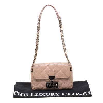 Marc Jacobs Nude Leather Baroque Shoulder Bag 187328 - 8
