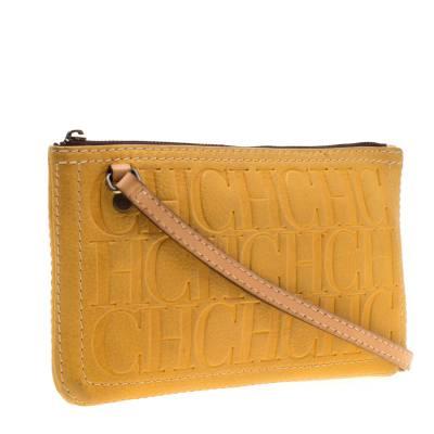 Carolina Herrera Mustard Signature Leather Crossbody Bag 187012 - 2