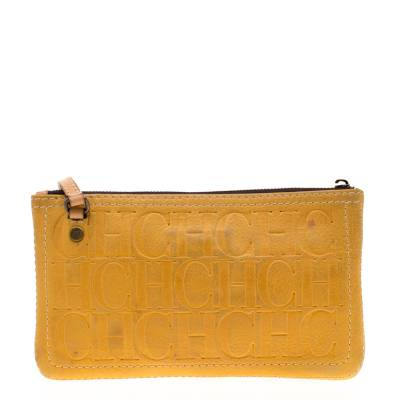 Carolina Herrera Mustard Signature Leather Crossbody Bag 187012 - 3