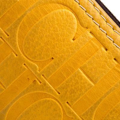Carolina Herrera Mustard Signature Leather Crossbody Bag 187012 - 4