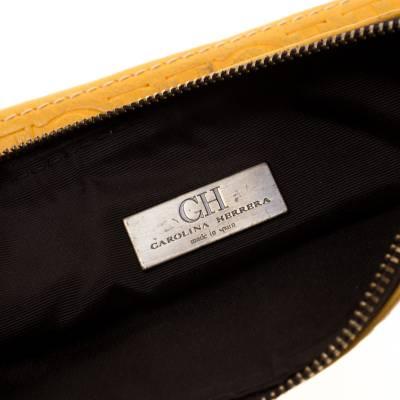 Carolina Herrera Mustard Signature Leather Crossbody Bag 187012 - 6