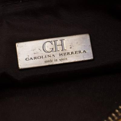 Carolina Herrera Mustard Signature Leather Crossbody Bag 187012 - 7