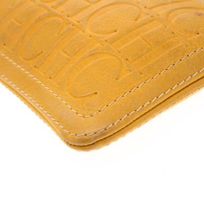 Carolina Herrera Mustard Signature Leather Crossbody Bag 187012 - 10