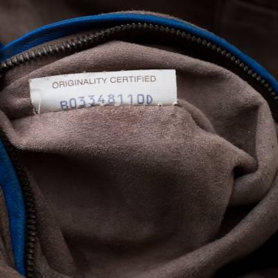 Bottega Veneta Blue Intrecciato Leather Nodini Crossbody Bag 187378 - 7