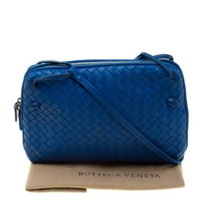 Bottega Veneta Blue Intrecciato Leather Nodini Crossbody Bag 187378 - 10