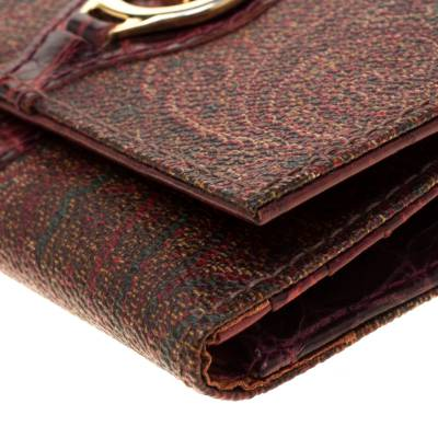 Etro Brown Paisley Printed Coated Canvas Trifold Wallet 185788 - 9