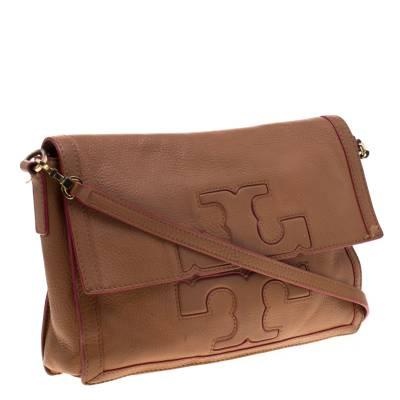 Tory Burch Brown Leather Flap Crossbody Bag 187220 - 3