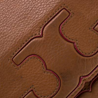 Tory Burch Brown Leather Flap Crossbody Bag 187220 - 5