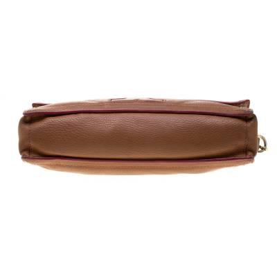 Tory Burch Brown Leather Flap Crossbody Bag 187220 - 6