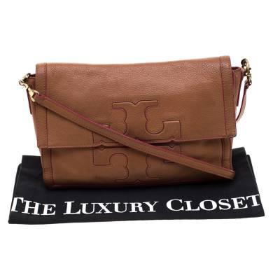 Tory Burch Brown Leather Flap Crossbody Bag 187220 - 9