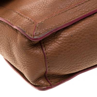 Tory Burch Brown Leather Flap Crossbody Bag 187220 - 10
