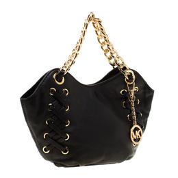 MICAHEL Michael Kors Black Leather Chain Shoulder Bag MICHAEL Michael Kors 187366