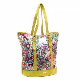 Etro Multicolor Paisley Print Canvas and Leather Tote 193031