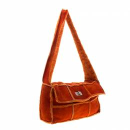 Chanel Orange Suede and Mouton Fur Reissue Shoulder Bag 186699