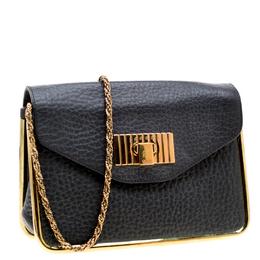 Chloe Black Leather Small Sally Shoulder Bag 194067