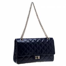 Chanel Blue Quilted Patent Leather Reissue 227 Flap Bag 194208