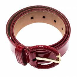 Dolce & Gabbana Red Patent Leather Belt 90CM 196865