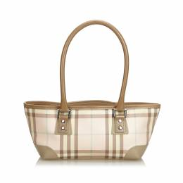 Burberry Pink PVC Candy Check Top Handle Bag 187352