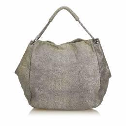 Alexander McQueen Gray Textured Leather Hobo Bag 179454