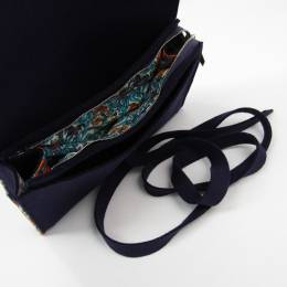 Hermes Navy Blue Felt Travel Jewelry Case 198185