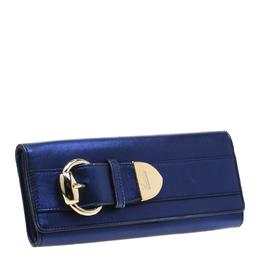 Gucci Royal Blur Metallic Leather Buckle Clutch 198094