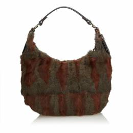 Fendi Brown Fur Hobo Bag 193259