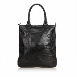 Burberry Black Leather Tote Bag 187351