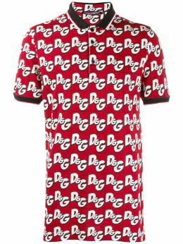 Dolce & Gabbana рубашка-поло с логотипом G8KI2TFS74A