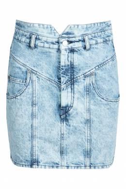 Короткая джинсовая юбка высокой посадки Isabel Marant 140144453