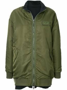 Sjyp двухсторонняя куртка-бомбер в стиле оверсайз PWMS3WN03000