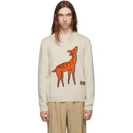 Gucci Beige Bambi Sweater 192451M20100707GB