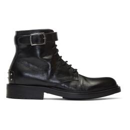 Saint Laurent Black Army Laced Boots 58473100EXX
