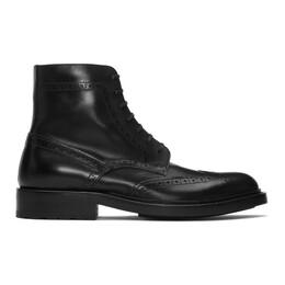 Saint Laurent Black Army 20 Combat Boots 5874621G700