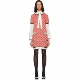 Gucci Red Knit GG Dress 192451F05200504GB