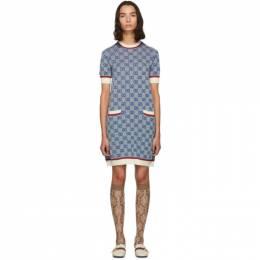 Gucci Blue Knit GG Dress 192451F05200401GB
